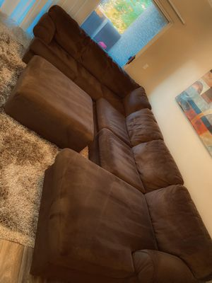 Ashley Sectional Couch w Ottoman for Sale in Gilbert, AZ