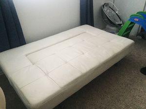 White Leather Futon for Sale in Santa Monica, CA