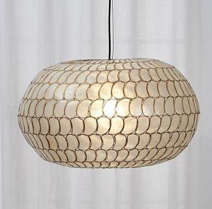 CB2 Luna Capiz pendant light/chandelier for Sale in Everett, WA