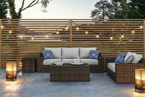 New 2pc outdoor patio furniture sofa and loveseat set tax included free delivery for Sale in Hayward, CA