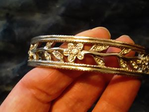 Bangle Bracelet with floral rhinestone designs for Sale in Salt Lake City, UT