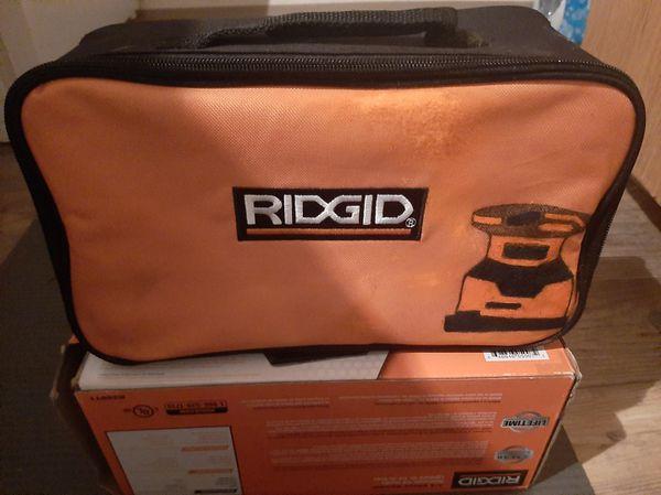 Ridgid palm sander and sheet sandpaper