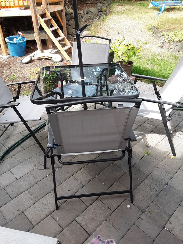 Patio outdoors furniture must go