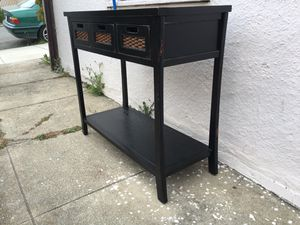Black Cherry Entry Console Table w/ Drawers for Sale in Alameda, CA