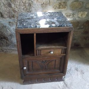 French bedside table with marble top From Normandy, France for Sale in Port Charlotte, FL
