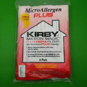 Kirby Micron Magic Micro Allergen Plus HEPA Vacuum Filter Bags 6 Pack F Style for Sale in Hephzibah, GA