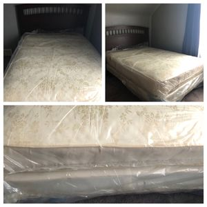 Full frame bed with mattresses for sale for Sale in Dearborn, MI