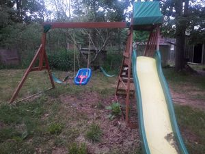 Swing set with saftey swing and slide for Sale in Buckingham, VA