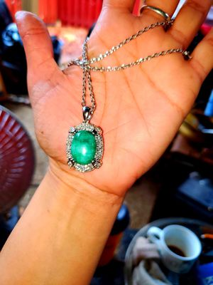 Rare Emerald & Sapphire on Sterling Silver ( Stamped) for Sale in Occoquan, VA