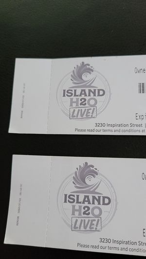 2 tickets to H20 live in Kissimmee expires 9/7 for Sale in Heathrow, FL