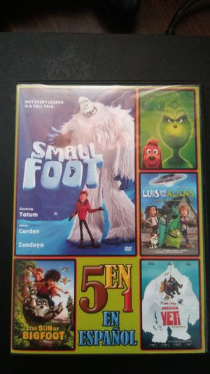 Five movies in one its only in spanish small foot,the grinch,the son of big foot,luis and the aliens,nelly&simon mission yeti for Sale in Reading, PA