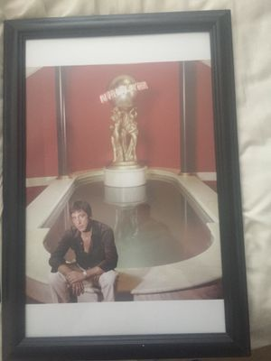 Scarface poster in frame for sale 35$ for Sale in Orlando, FL