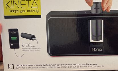 Brand New Sealed IHome kineta K1 Portable Bluetooth Speaker With Phone Charger for Sale in Los Angeles,  CA