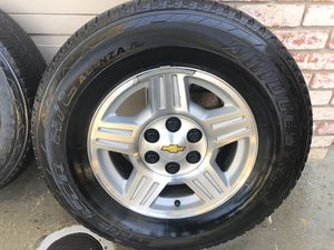 Chevy Tahoe stock wheels + tires for Sale in Modesto, CA