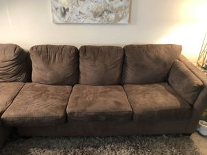 Sectional brown suede couch for Sale in Hyattsville, MD