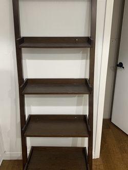 Standing Wood 5 Shelf Decorative Ladder - Dark Walnut - Living Room/bedroom/kitchen/office - $50 for Sale in Newport Beach,  CA