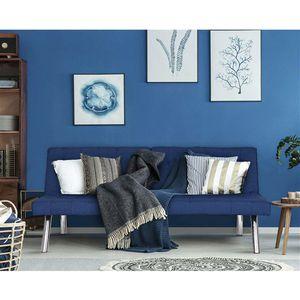 Modern Navy Blue Split Back Futon Sleeper Sofa Bed Couch.FF-65677778FS. for Sale in San Francisco, CA