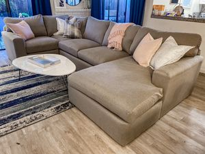 Living Spaces Grey Sectional Couch for Sale in Danville, CA