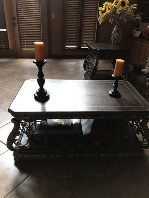 Two tables one with A pretty flower vase And the other one with two candles on top and they opening with two games inside for Sale in Snellville, GA