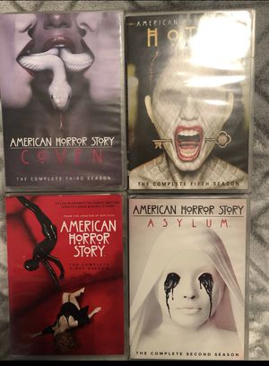 Dvd-AMERICAN HORROR STORY HOTEL (seasons 1-2-3-5) normal wear for Sale in Sunrise, FL