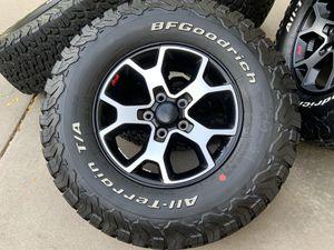 "2020 17"" Jeep Wrangler Rubicon set of 5 NEW wheels BFgoodrich k02 A/T all terrain tires rims JL JK for Sale in Brighton, CO"