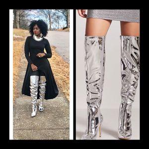 Kim Mirror Thigh High Boots for Sale in Bridgeton, MO