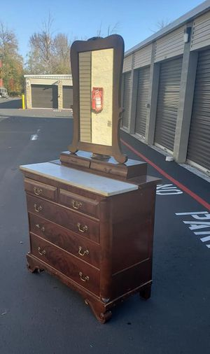 Antique dresser with mirror 44 wide 21 deep 79 tall for Sale in Renton, WA