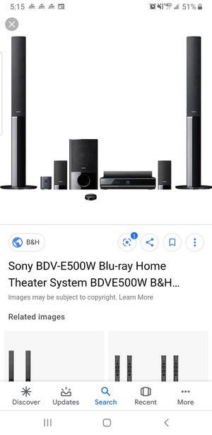 Sony bdv-e500w blu-ray home theater system for Sale in Santa Maria, CA