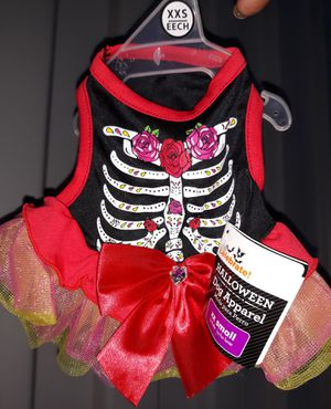 New w/tags XXS Day of the dead Dress for tiny Female Dog for Sale in Manitou Springs, CO