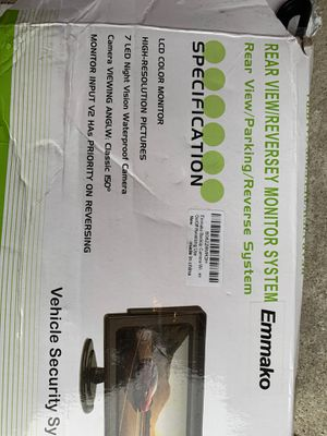 Emmako Rear view reverse//backup camera and 4.3 display monitor brand new for Sale in Reynoldsburg, OH
