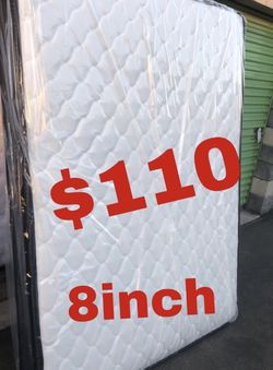 """🔥🔥BRAND NEW PILLOW TOP MATTRESSES ✅ COLCHONES NUEVOS PILLOW TOP 💯 20-30 Delivery fee 8"""" QUEEN MATTRESS $110 ❌ $160 With Box spring for Sale in Universal City,  CA"""