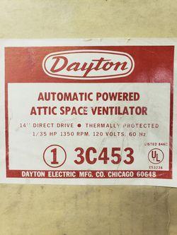 Dayton attic exhaust fan for Sale in Conifer,  CO