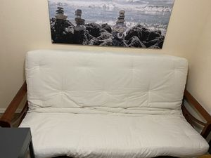 Futon with Mattress and Free table for Sale in Phoenix, AZ
