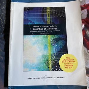 Essentials of Marketing textbook By Perreault, Jr. / Cannon / McCarthy for Sale in Anaheim, CA