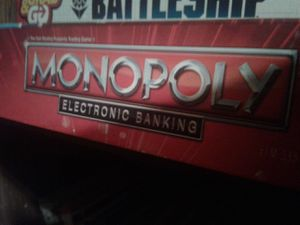 Board games, monopoly credit cards, battleship. for Sale in Newport, MI