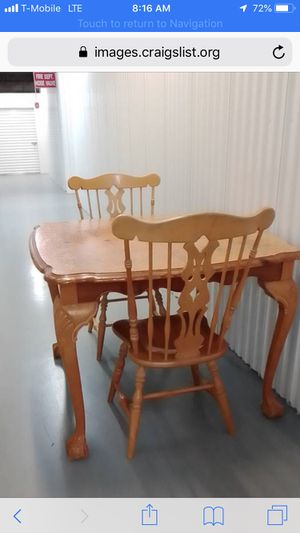 Vintage Dining Table w 2 Chairs, Colonial Style Virginia House for Sale in Tamarac, FL
