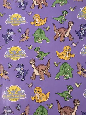 Vintage Land Before Time Wrapping Paper 6 Rolls for Sale in Worthing, SD
