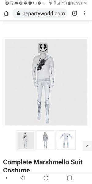 Fortnite DJ Marshmello Costume Jumpsuit. NEW. Kid's Size Medium (8-10) for Sale in Phoenix, AZ