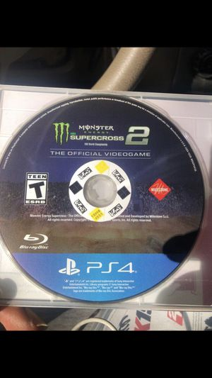 Supercross 2 The Official VideoGame PS4 for Sale in Philadelphia, PA