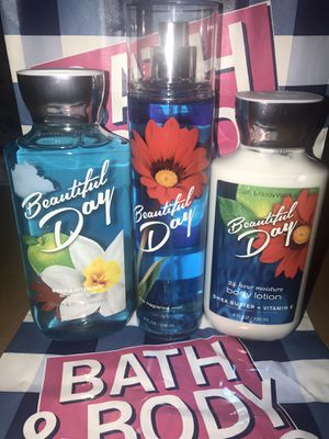 """NEW Bath & Body Works Set """"Beautiful Day"""" for Sale in Highland, CA"""
