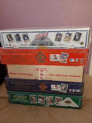 New & Complete Five Boxes Baseball Cards Sets for Sale in Kissimmee, FL