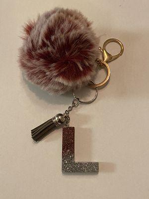 Pom Pom keychain with Letter L for Sale in Wichita, KS