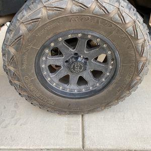 "18"" Black Rhino Rim With 35x12.5 R18 Tires for Sale in Moreno Valley, CA"