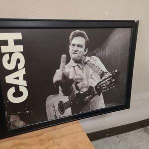 JOHNNY CASH FRAME 40x27 for Sale in Deer Park, TX