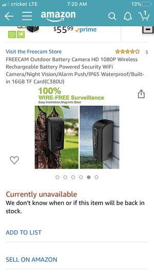 Outdoor indoor WiFi camera for Sale in Los Angeles, CA