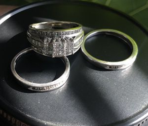 Real 10k wedding ring and bands $1,000 OBO for Sale in Columbus, OH