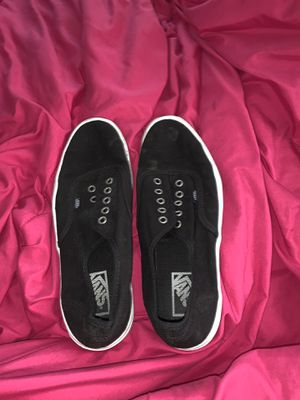 Black vans men's size 9.5 for Sale in Medford, OR
