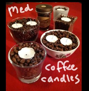 Medium coffee candles for Sale in League City, TX
