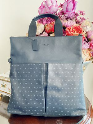 CHARLES FOLDOVER TOTE IN STAR DOT PRINT LEATHER (COACH F59309) for Sale in Fontana, CA