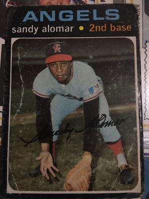 Baseball card Sandy Alomar 1972 autographed for Sale in Norwalk, CA